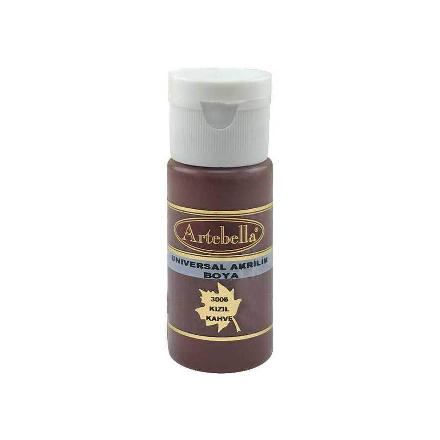 30060030 artebella universal akrilik boya 30cc kizil kahve 609591 14 B