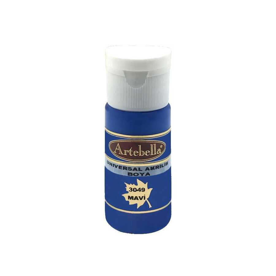 30490030 artebella universal akrilik boya 30cc mavi 610192 14 B -Artebella Art & Craft Hobi ve Sanat Ürünleri