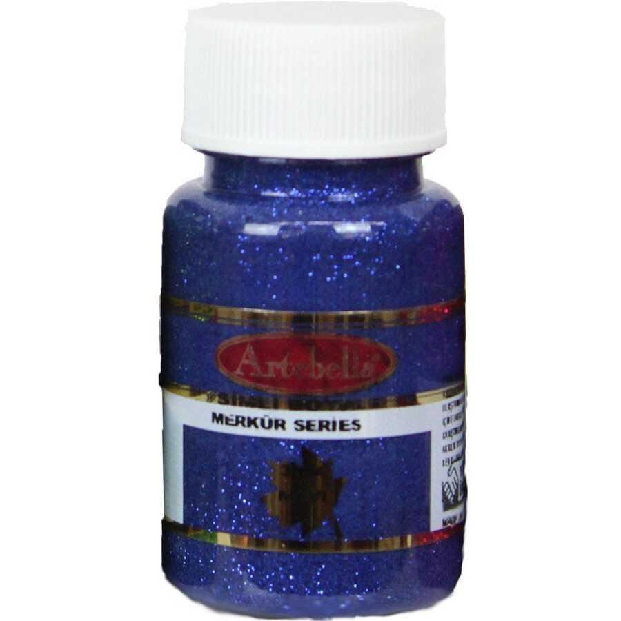 318450 artebella merkur serisi simli boya 50 cc mavi 606601 15 B -Artebella Art & Craft Hobi ve Sanat Ürünleri