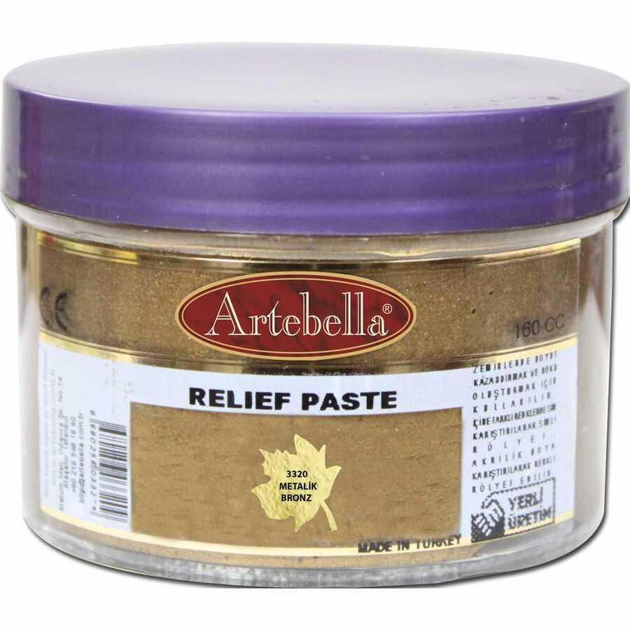 3320 artebella rolyef pasta metalik bronz 160 cc 610549 15 B -Artebella Art & Craft Hobi ve Sanat Ürünleri
