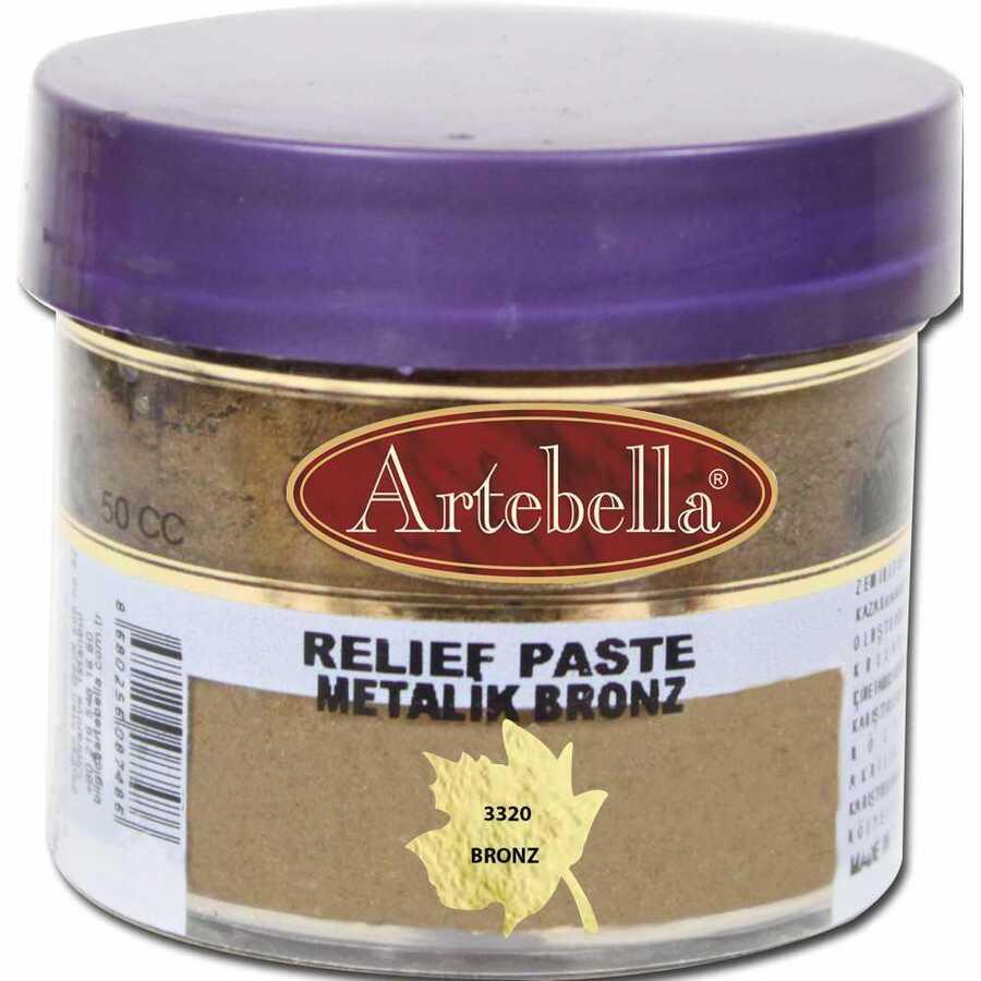 332050 artebella rolyef pasta metalik bronz 50 cc 606541 15 B -Artebella Art & Craft Hobi ve Sanat Ürünleri