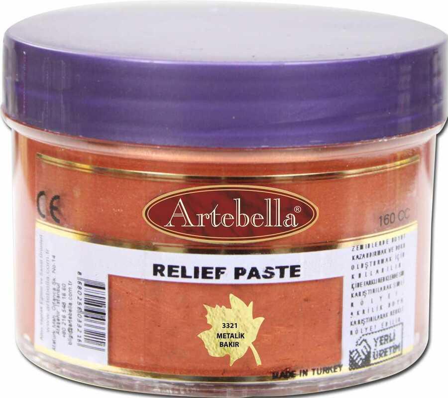 3321 artebella rolyef pasta metalik bakir 160 cc 606507 15 B -Artebella Art & Craft Hobi ve Sanat Ürünleri