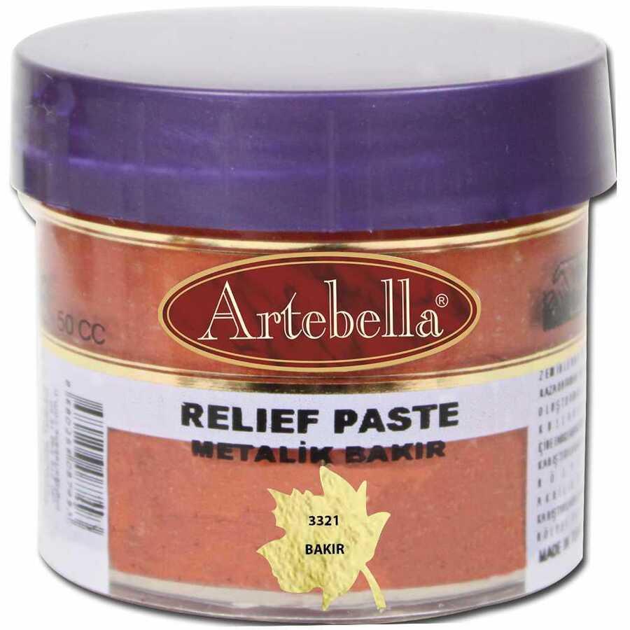 332150 artebella rolyef pasta metalik bakir 50 cc 610561 15 B -Artebella Art & Craft Hobi ve Sanat Ürünleri