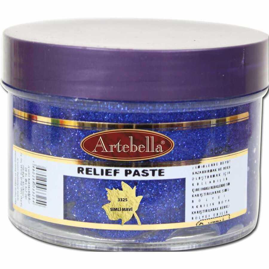 3325 artebella rolyef pasta simli mavi 160 cc 610557 15 B -Artebella Art & Craft Hobi ve Sanat Ürünleri