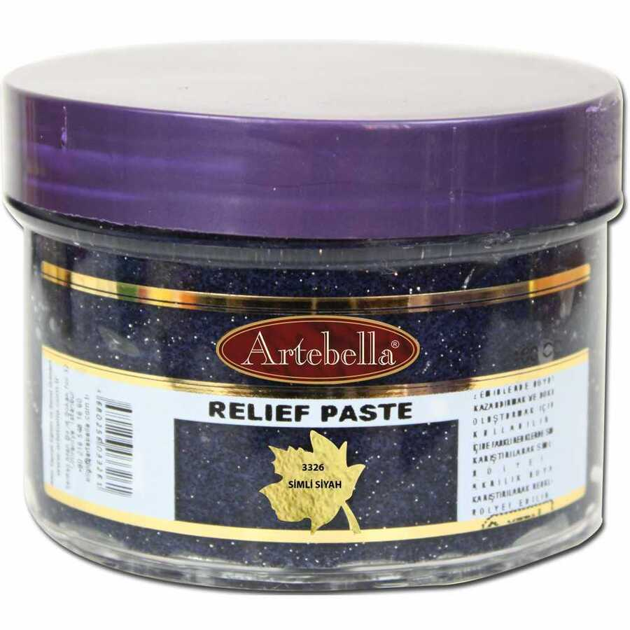 3326 artebella rolyef pasta simli siyah 160 cc 610559 15 B -Artebella Art & Craft Hobi ve Sanat Ürünleri