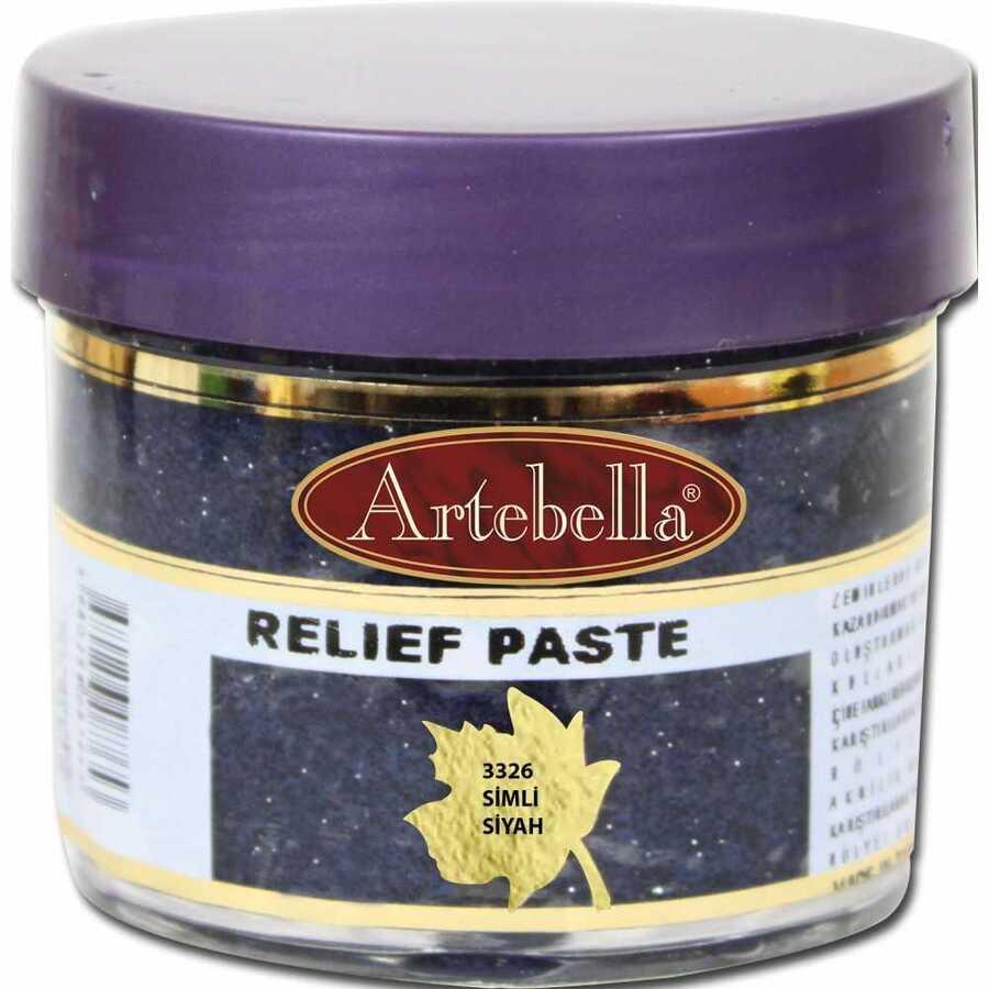 3326 artebella rolyef pasta simli siyah 50 cc 597583 15 B -Artebella Art & Craft Hobi ve Sanat Ürünleri