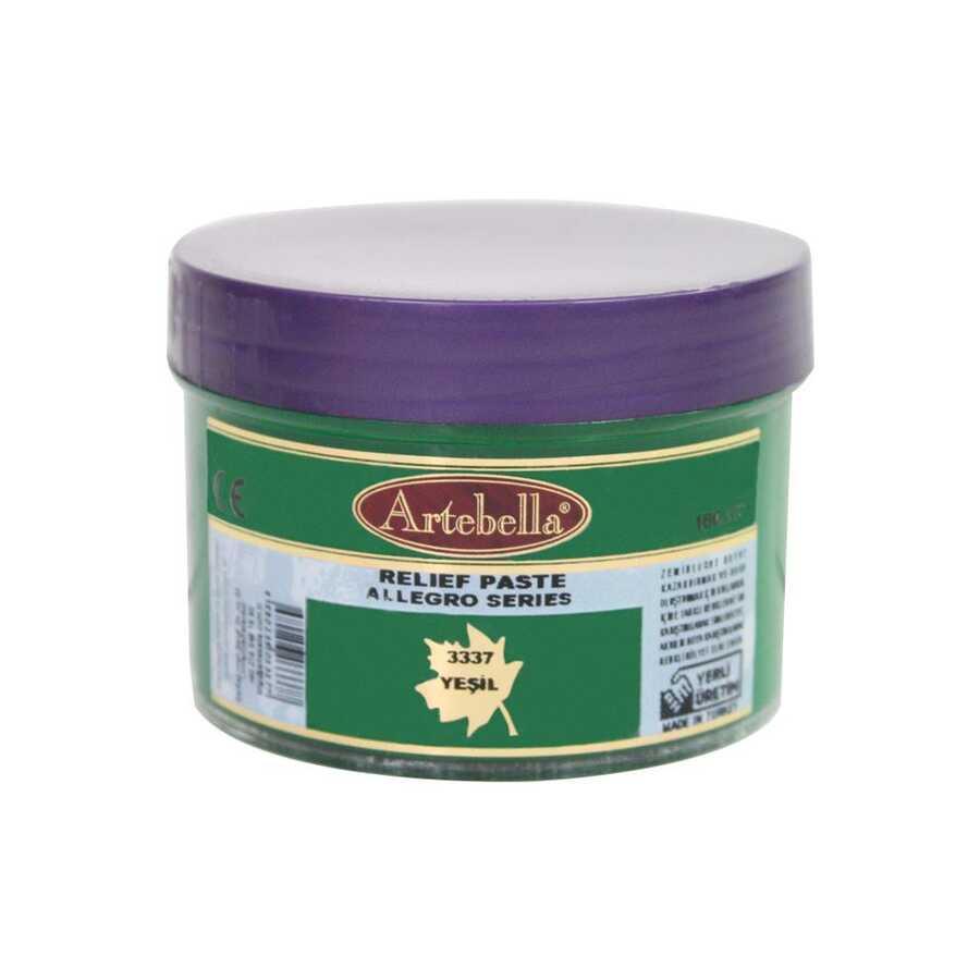 3337 artebella allegro rolyef pasta yesil 160 cc 16403 606531 15 B -Artebella Art & Craft Hobi ve Sanat Ürünleri