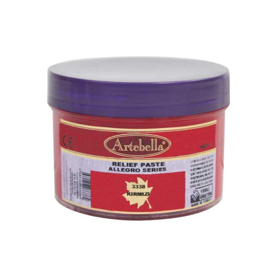 3338 artebella allegro rolyef pasta kirmizi 160 cc 16404 606533 15 B -Artebella Art & Craft Hobi ve Sanat Ürünleri