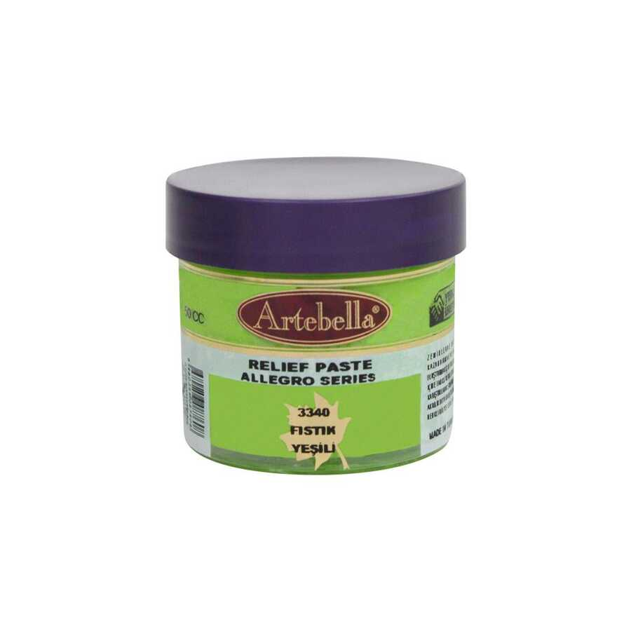 334050 artebella allegro rolyef pasta fistik yesili 50 cc 16425 606565 15 B -Artebella Art & Craft Hobi ve Sanat Ürünleri