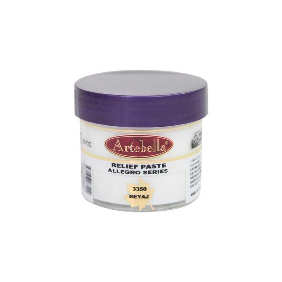 335050 artebella allegro rolyef pasta beyaz 50 cc 16415 606547 15 B -Artebella Art & Craft Hobi ve Sanat Ürünleri