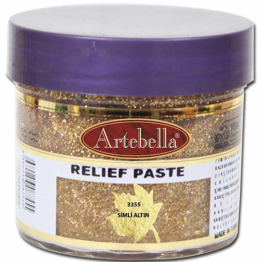 335550 artebella rolyef pasta simli altin 50 cc 597593 15 B -Artebella Art & Craft Hobi ve Sanat Ürünleri