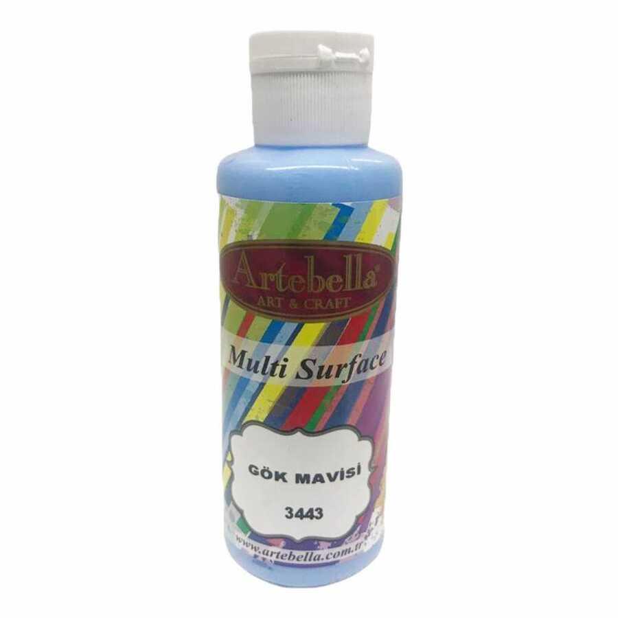 3443130 artebella multi surface boya 130cc gok mavisi 612516 15 B -Artebella Art & Craft Hobi ve Sanat Ürünleri