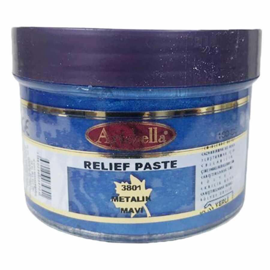 3801 artebella rolyef pasta metalik mavi 160 cc 612500 15 B