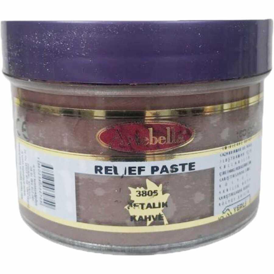 3805 artebella rolyef pasta metalik kahverengi 160 cc 612494 15 B -Artebella Art & Craft Hobi ve Sanat Ürünleri