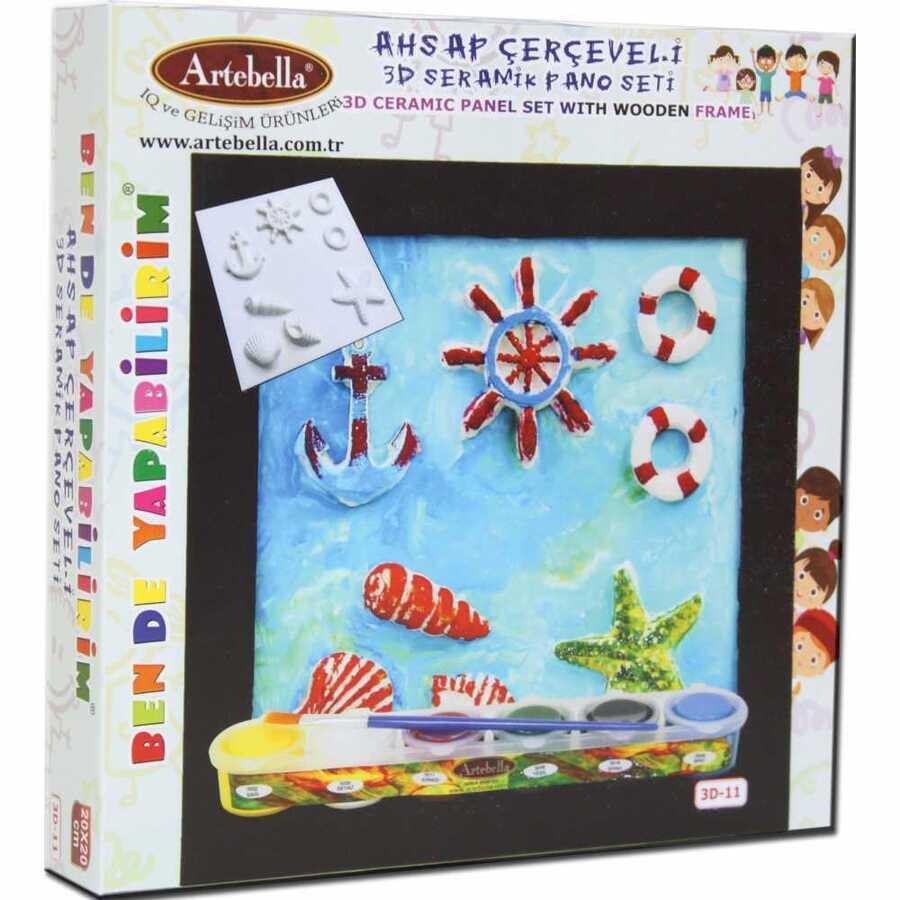 3d 11 artebella seramik pano boyama 20x20 cm 599937 14 B -Artebella Art & Craft Hobi ve Sanat Ürünleri