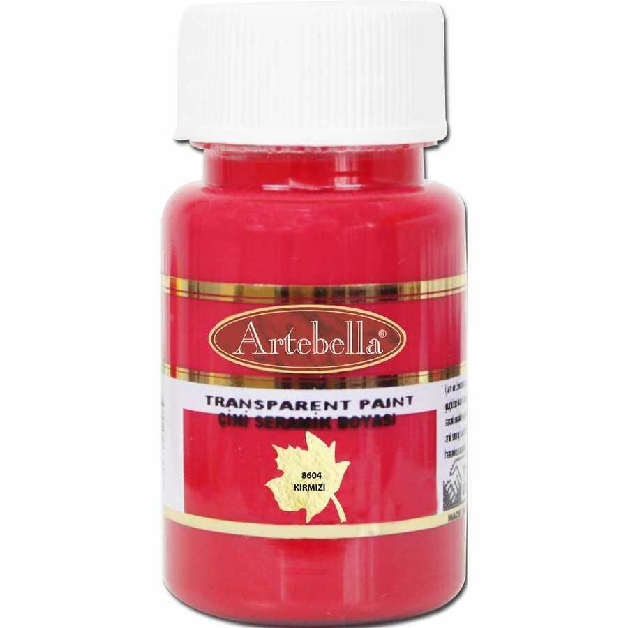 860450 artebella transparan cini seramik boyasi 50 cc kirmizi 606689 15 B -Artebella Art & Craft Hobi ve Sanat Ürünleri
