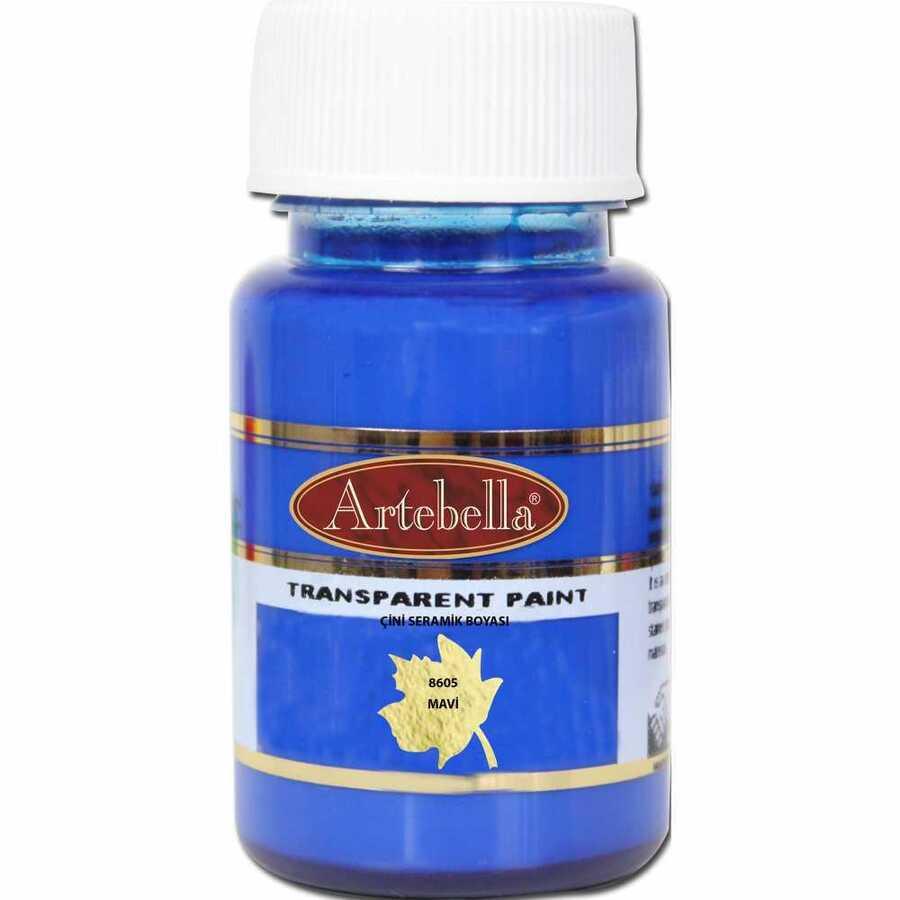 860550 artebella transparan cini seramik boyasi 50 cc mavi 603248 15 B