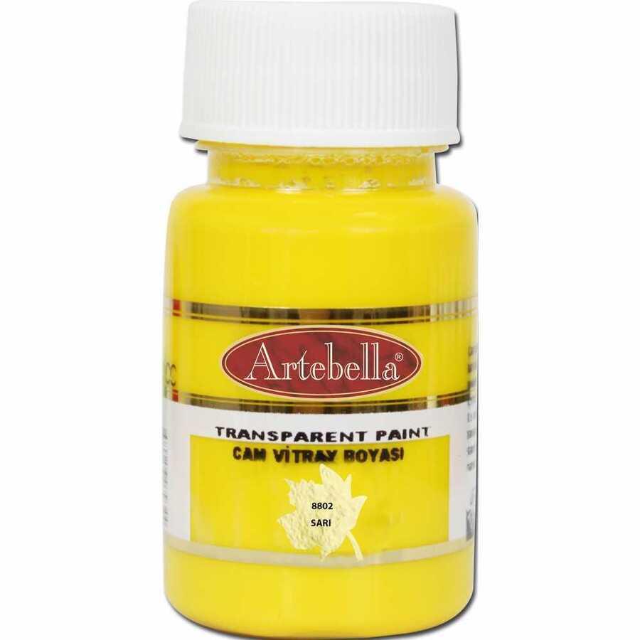 880250 artebella transparan cam vitray boyasi 50 cc sari 606719 15 B -Artebella Art & Craft Hobi ve Sanat Ürünleri