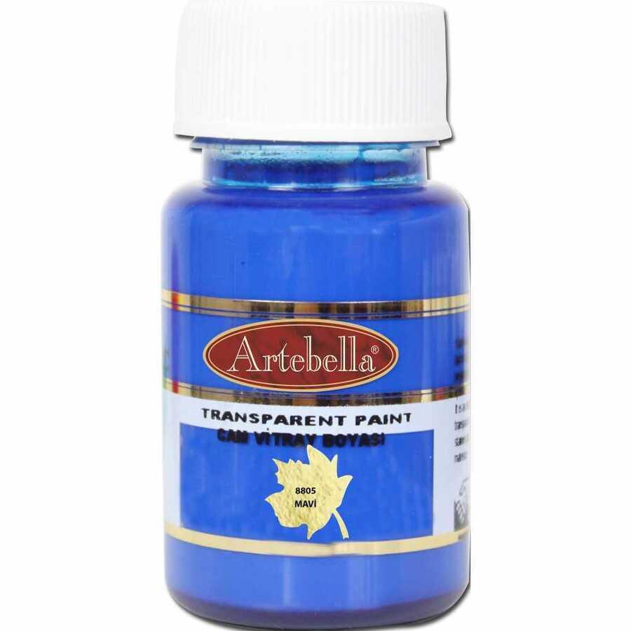 880550 artebella transparan cam vitray boyasi 50 cc mavi 606725 15 B -Artebella Art & Craft Hobi ve Sanat Ürünleri