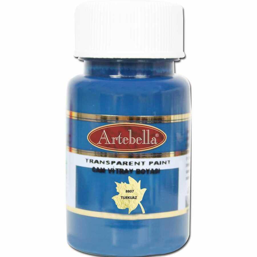 880750 artebella transparan cam vitray boyasi 50 cc turkuaz 608102 15 B