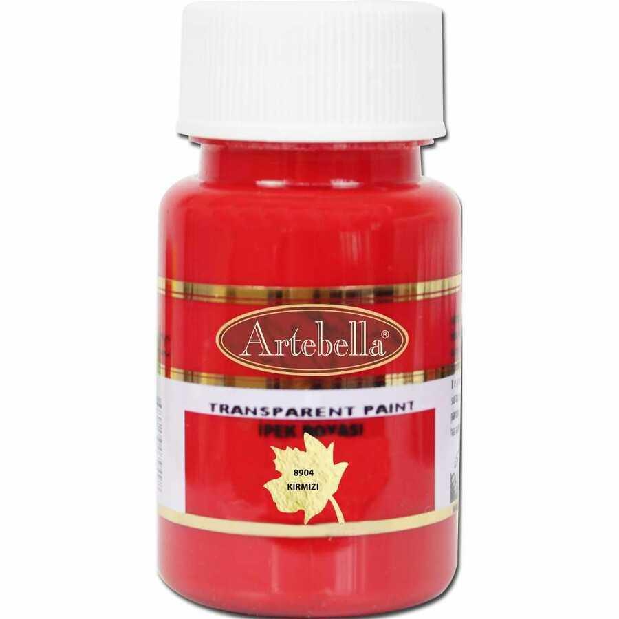890450 artebella transparan ipek boyasi 50 cc kirmizi 606759 15 B -Artebella Art & Craft Hobi ve Sanat Ürünleri