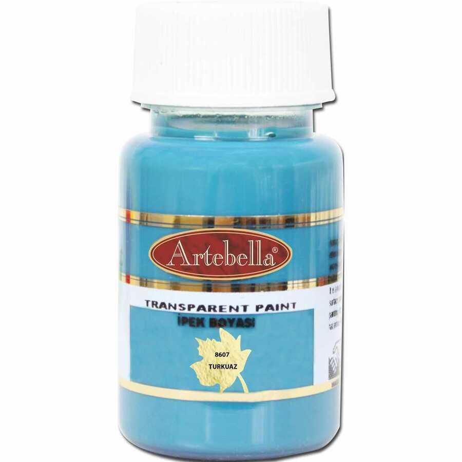 890750 artebella transparan ipek boyasi 50 cc turkuaz 606765 15 B -Artebella Art & Craft Hobi ve Sanat Ürünleri