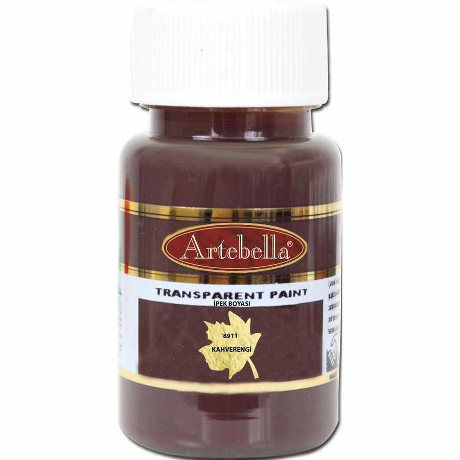891150 artebella transparan ipek boyasi 50 cc kahverengi 606773 15 B -Artebella Art & Craft Hobi ve Sanat Ürünleri