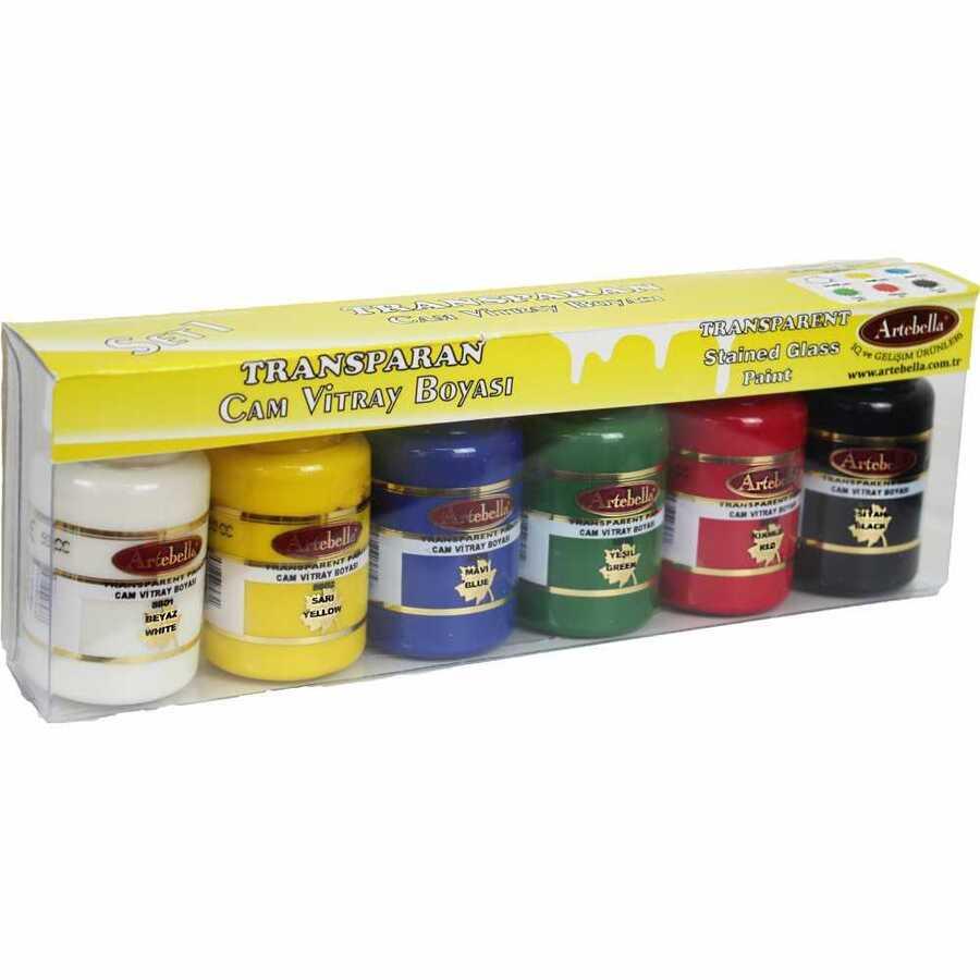 abstc001 artebella transparan cam vitray boyasi 50 cc 6i set 1 608247 15 B -Artebella Art & Craft Hobi ve Sanat Ürünleri