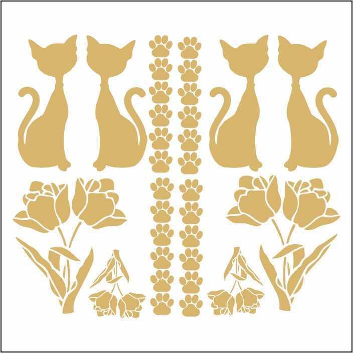 artebella 7301 gold kolay transfer 16x16 cm 14 367300 13 B -Artebella Art & Craft Hobi ve Sanat Ürünleri