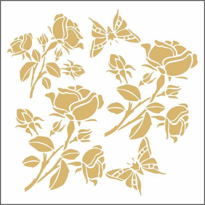 artebella 7301 gold kolay transfer 16x16 cm 3 608039 13 B -Artebella Art & Craft Hobi ve Sanat Ürünleri