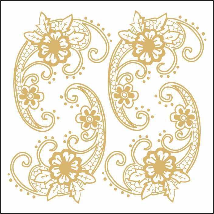 artebella 7301 gold kolay transfer 16x16 cm 34 608045 13 B -Artebella Art & Craft Hobi ve Sanat Ürünleri