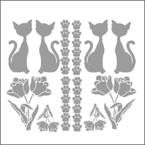 artebella 7325 silver kolay transfer 16x16 cm 598729 13 B -Artebella Art & Craft Hobi ve Sanat Ürünleri