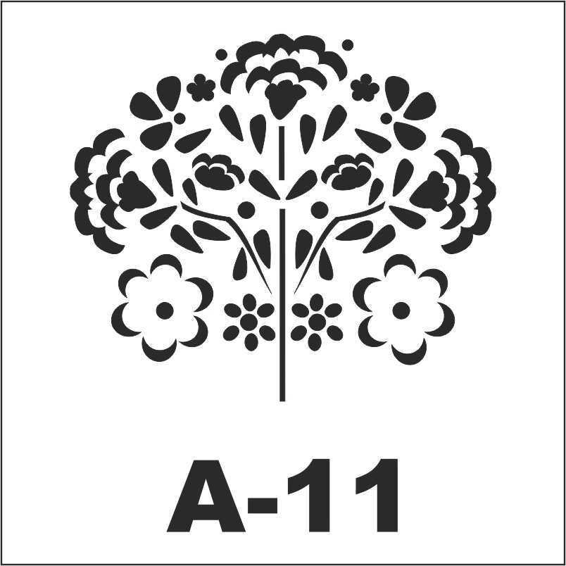 artebella a 11 stencil a serisi 18x18 596175 18 B