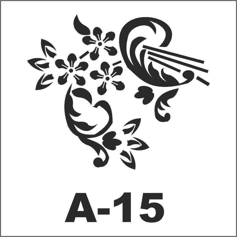 artebella a 15 stencil a serisi 18x18 cm 596183 22 B