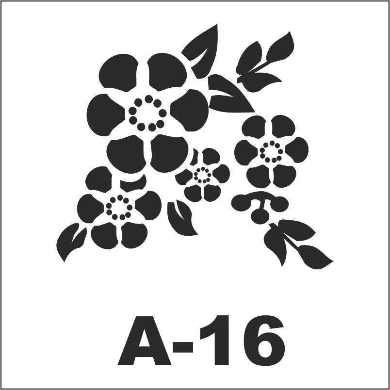artebella a 16 stencil a serisi 18x18 605216 23 B
