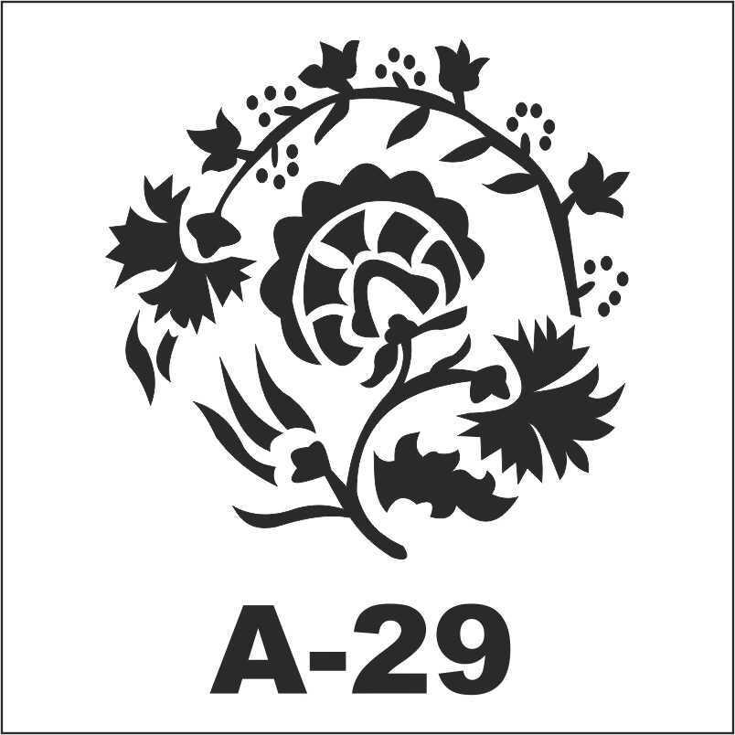 artebella a 29 stencil a serisi 18x18 cm 596197 34 B