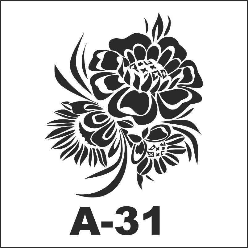 artebella a 31 stencil a serisi 18x18 cm 610589 36 B