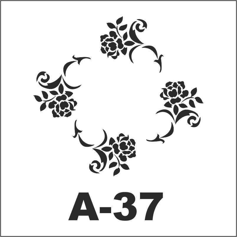 artebella a 37 stencil a serisi 18x18 cm 605152 42 B -Artebella Art & Craft Hobi ve Sanat Ürünleri