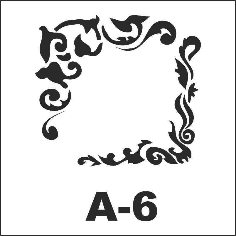 artebella a 6 stencil a serisi 18x18 cm 605140 15 B
