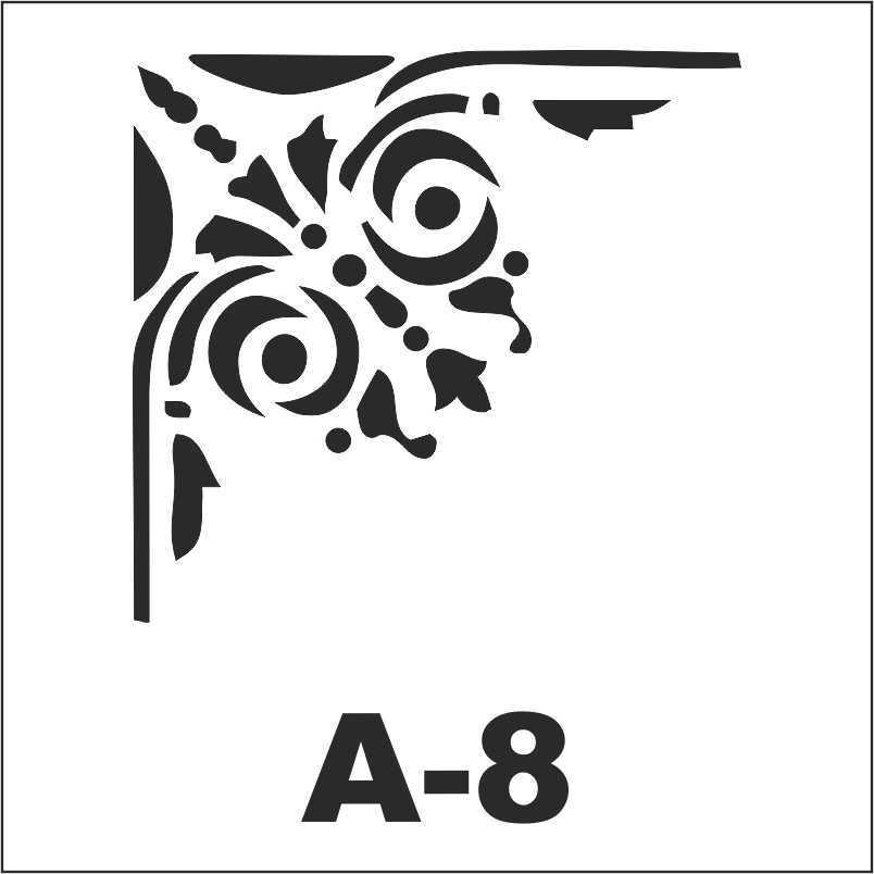 artebella a 8 stencil a serisi 18x18 605142 16 B