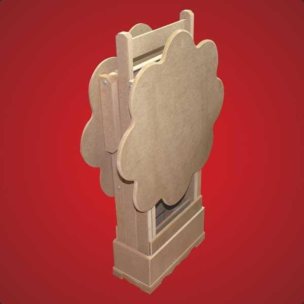 artebella ahsap mdf altigen semsiyelik se 002 25x21x47 cm 593517 12 B -Artebella Art & Craft Hobi ve Sanat Ürünleri