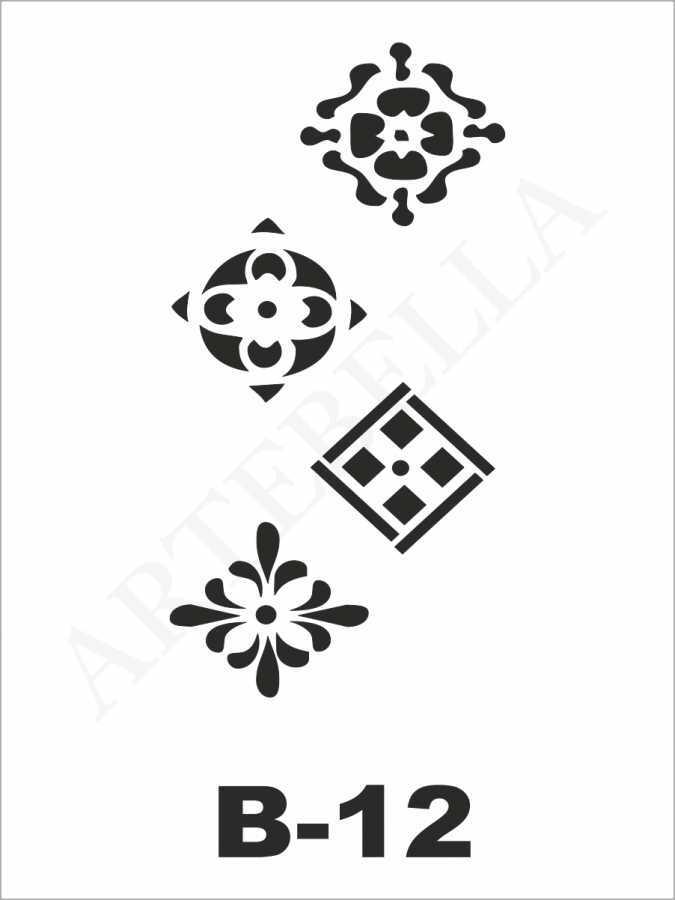artebella b 12 stencil b serisi 10x20 cm 596215 22 B -Artebella Art & Craft Hobi ve Sanat Ürünleri