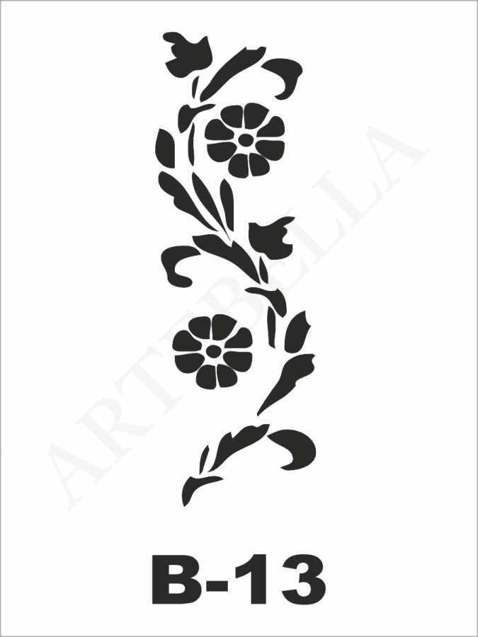 artebella b 13 stencil b serisi 10x20 cm 607136 23 B