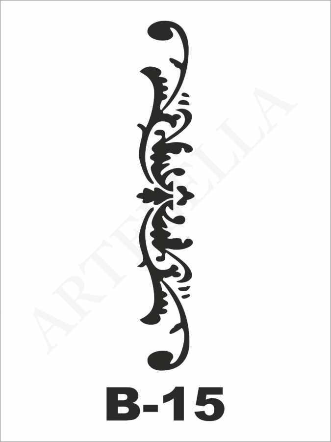 artebella b 15 stencil b serisi 10x20 cm 596217 23 B -Artebella Art & Craft Hobi ve Sanat Ürünleri