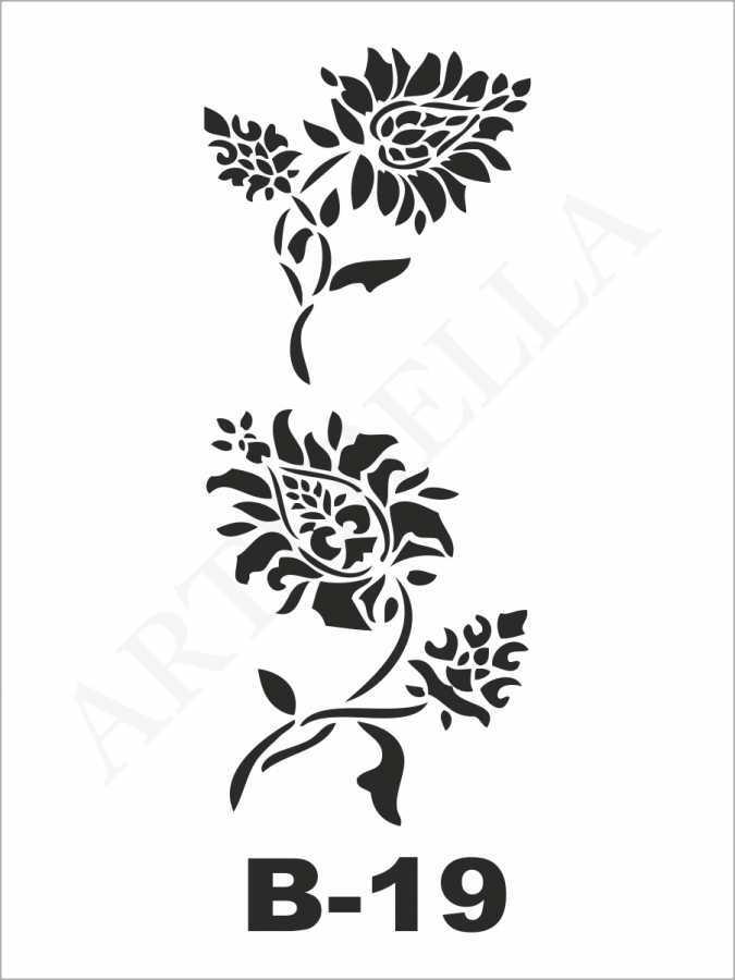 artebella b 19 stencil b serisi 10x20 cm 596225 23 B -Artebella Art & Craft Hobi ve Sanat Ürünleri