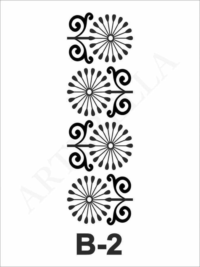 artebella b 2 stencil 10x20 cm 596755 33 B