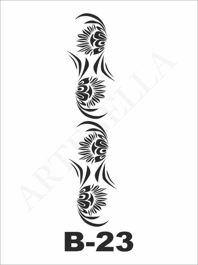 artebella b 23 stencil b serisi 10x20 cm b serisi stenciller 598382 23 B -Artebella Art & Craft Hobi ve Sanat Ürünleri