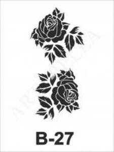 artebella b 27 stencil b serisi 10x20 cm 600118 22 B -Artebella Art & Craft Hobi ve Sanat Ürünleri