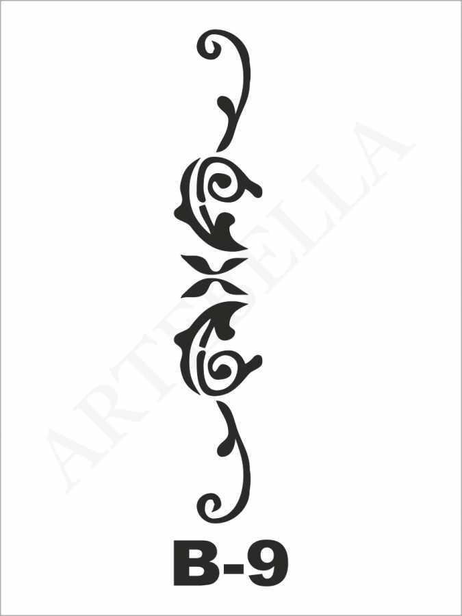 artebella b 9 stencil b serisi 10x20 cm 596213 22 B