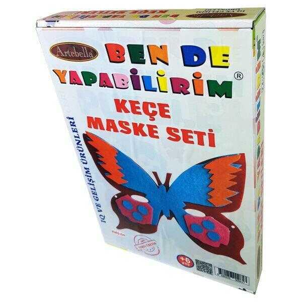 artebella ben de yapabilirim kece maske seti ksm 04 598152 14 B -Artebella Art & Craft Hobi ve Sanat Ürünleri